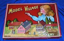 VTG 1910 SPEARS GERMANY Cardboard MODEL VILLAGE IOB, FIGURES, ANIMALS, XMAS PUTZ