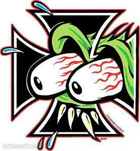 Eyes Cross STICKER Decal Kozik Poster Artist Roth Like KZ14