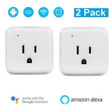 Wireless Wifi Voice Remote Smart Plug Outlet Socket for Google Home Assistant X2