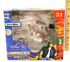 American Chopper Motorcycle Diecast Motorcycle Model Set 1/18 Black Widow NIB