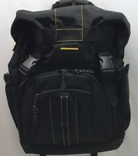 Jeep Backpack Luggage Travel Bag Black Yellow