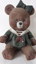 Sarah's Attic Missey Girl Bear Sailor Dress Village Green #3103 1991 Teddy Bear