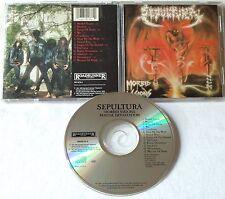 Sepultura - Morbid Visions CD OOP R/C 1991  chakal sarcofago overdose attomica