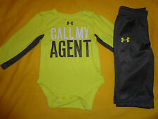 UNDER ARMOUR BABY BOY SET SIZE 3-6 MONTHS  MULTICOLOR