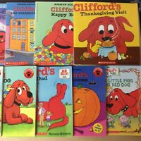 Lot of 8 Clifford The Big Red Dog Bridwell Children Kids Books MIX UNSORTED