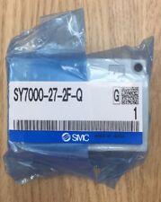 NUOVA Valvola Solenoide SMC SY7000-27-2F-Q sub-Piastra per valvole montato Base