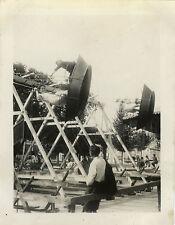 PHOTO ANCIENNE - VINTAGE SNAPSHOT-MANÈGE FÊTE FORAINE VERT LE PETIT ESSONNE 1944