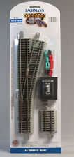 BACHMANN E-Z TRACK HO SCALE #4 TURNOUT RIGHT HAND SWITCH roadbed gray 44558 NEW