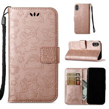 Horse Clouds Pattern PU Leather Wallet Card Stand Case Flip Cover For Various