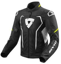GIACCA JACKET TRAFORATA ESTIVA MOTO REVIT REV'IT VERTEX AIR NERO GIALLO FLUO  S