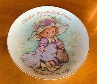 Vintage Avon Cherished Moments 1981 Mother's Day Plate Porcelain 22K Gold Trim