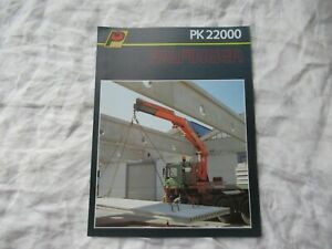 1990 Palfinger PK22000 truck crane equipment brochure