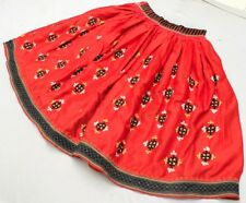 Gypsy Ethnic Banjara Rabari Tribal Belly Dance Boho Kuchi Embroidery India Skirt