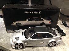 1/18 MINICHAMPS''01 BMW M3 GTR E46 SILVER/CARBON FIBER ROOF USED MEGA RARE HOT