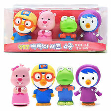 Pororo Soft Toy 4pcs PORORO LOOPY CRONG PETTY Whistle Sound Cute Dolls kids