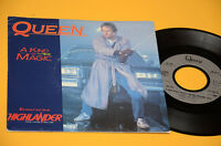 """QUEEN 7"""" 45 A KIND OF MAGIC DAL FILM HIGHLANDER 1°ST ORIG 1986 NM ! TOP COLLECTO"""