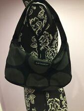 Marimekko Canvas  Shoulder Bag, Black And Grey  Color
