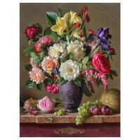 5D DIY Full Drill Diamond Painting Colorful Flower Cross Stitch Embroidery Decor