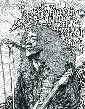 RORY GALLAGHER psychedelic print 8x11 By Jim FitzPatrick