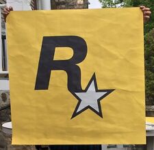 "Rockstar Games ""Maker of Grand Theft Auto"" Advertising R Logo Banner"