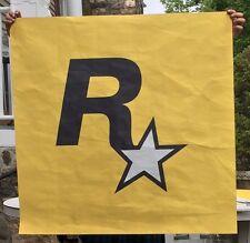 "Rockstar Games ""Maker of Grand Theft Auto"" Advertising R Logo Banner"