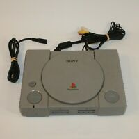PlayStation 1 PS1 Console Bundle w/1 Controller, AV Cable, Power Cable Untested
