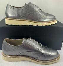Australia Luxe Collective Women's George Oxford Shoes Metallic Silver Size 6