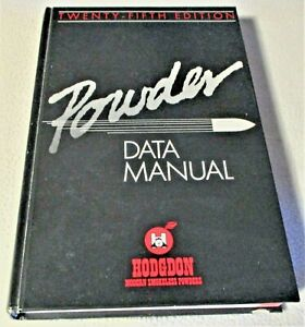HODGDON POWDER DATA RELOADING MANUAL, NUMBER 25