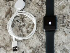 Apple Watch Series 1 42mm Smartwatch Space Gray Aluminum Case Sport Band Works!
