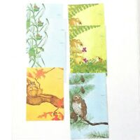 Linda K Powell Animals Just A Note Stationary 8 Tri-Fold Cards Vtg No Gold Seals