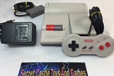 Nintendo NES Console System TOP LOADING Rare DOGBONE Controller WARRANTY NES-101