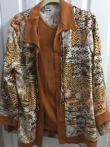 Maggie Sweet PANTS JACKET SHELL Set Womens Size 1X  Travel Cruise ANIMAL KINGDOM