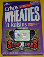 Steve Young Super Bowl XXIX Replays Crispy Wheaties With Raisons Box 1989 SEE!