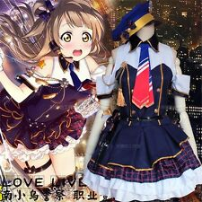 Minami Kotori Policewoman Uniform Dress Outfit Anime Love Live Cosplay Costumes
