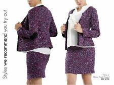 Maternity skirt suit purple size L 12 Uk