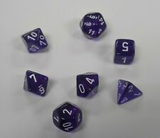 DUNGEONS & DRAGONS CHX23077 TRANSLUCENT PURPLE W/ WHITE DICE SET DnD RPG