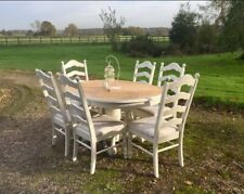 Tiger Oak Oval Dining Table and 6 Chairs ~ Farrow & Ball