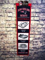 NEW ENGLAND PATRIOTS STADIUM EVOLUTION BANNER - NFL FOOTBALL - FREE SHIPPING🔥