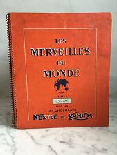 Les merveilles du monde volume 3 1956-1957 édité Nestlé et Kohler Complet