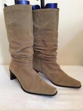 PIERRE CARDIN CAMEL SUEDE SLOUCH BOOTS SIZE 7.5/41