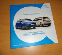2105) Citroen C4 Spacetourer Prospekt Juli 2018 brochure
