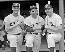 New York Yankees ROGER MARIS, YOGI BERRA & MICKEY MANTLE 8x10 Photo Poster Print