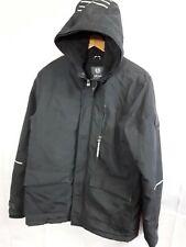 Boys Junior Coat Warm Urban F&f Navy Zip Hood Size 13/14 Yrs Winter
