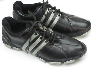 Adidas Tour 360 ThinTech Men's Size 8.5 Black & Silver Golf Shoes 6443
