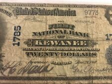 1902 $20 NOTE FIRST NATIONAL BANK KEWANEE, IL ILLINOIS Ch. 1785