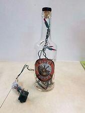 Fire Dept. 1955 Wild Turkey Bottle with red mini lights inside