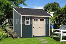 8' x 12' Backyard Deluxe Storage Shed Plans  Blueprint, Lean-To Design #D0812L
