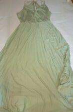 Asos Tall Blouson Wrap Plated Maxi dress Mint/green size 16
