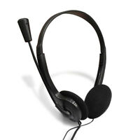 1x 3.5mm Wired Earphone Over-Ear Headphone Stereo Headset with Mic for PC Laptop