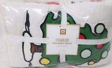 New Pottery Barn Teen SNOOPY Peanuts Twin QUILT pbteen Christmas Woodstock